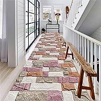 CnCnCn ギャラリー カーペット 北欧スタイル ホーム エントランス 玄関マット フロアマット 商業の ショールーム 廊下 ランナー、 12色のオプション (Color : E, Size : 80x180cm)