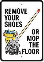 ヴィンテージメタルブリキサイン、靴やモップの床を削除、バークラブカフェファームの家の装飾アートポスターに適しています