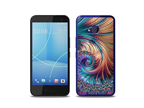 etuo Handyhülle für HTC U11 Life Handyhülle Schutzhülle Etui Hülle Hülle Cover Tasche für Handy Fantastic Hülle - Buntes Fraktal