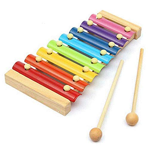 Wood Tool - Kid Toy 8 Note Musical Xylophone Piano Wooden Instrument Child - Awkward Instrumentate Official Document Legal Woody Pawn - 1PCs