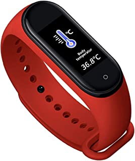 ShangSky Pulsera Inteligente Pulsera con Monitor de sueño, IP67 Impermeable Termómetro en Tiempo Real Podómetro, Rastreador de Ejercicios con función Social para Hombres Mujeres
