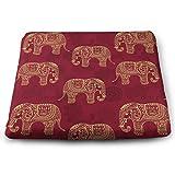 Elefantes Estilizados Transparentes Cojín de Asiento de Silla Sin Fin Estilo Indio Alivia la Presión de Los Músculos de Las Nalgas Almohadillas de Espuma Elásticas