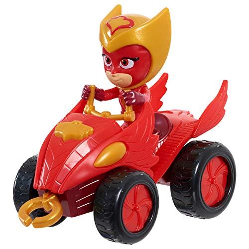 Simba 109402423 - PJ Masks Quad Eulette / mit Superhelden Action Figur / mit integrierter Seilwinde / rot mit goldenen Akzenten / Figur 8cm groß, für Kinder ab 3 Jahren