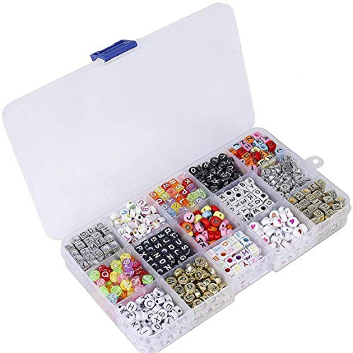 Tuimiyisou Cartas de Cuentas Granos de la Pulsera DIY para la joyería Que Hace Pulseras Collares Llavero Niños joyería 1100pcs