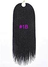 18'75–80g/pack Trenzas senegalesas, mechones Ombre trenzados, fibra kanekalon, mechones, extensiones de pelo
