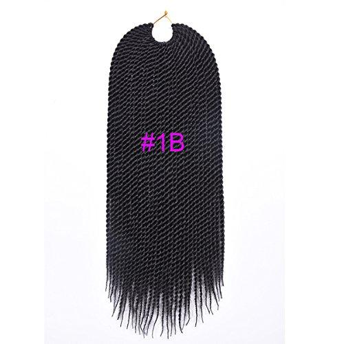 Pacco di extension per capelli da 45,7cm, a uncinetto di peso 75-80g/per capelli, per trecce, senegalesi, attorcigliati, Kanekalon