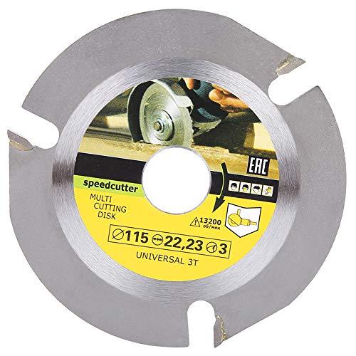 Acero de alto carbono 115 x 22 mm universal 3 dientes hoja de sierra circular madera corte disco herramientas de corte