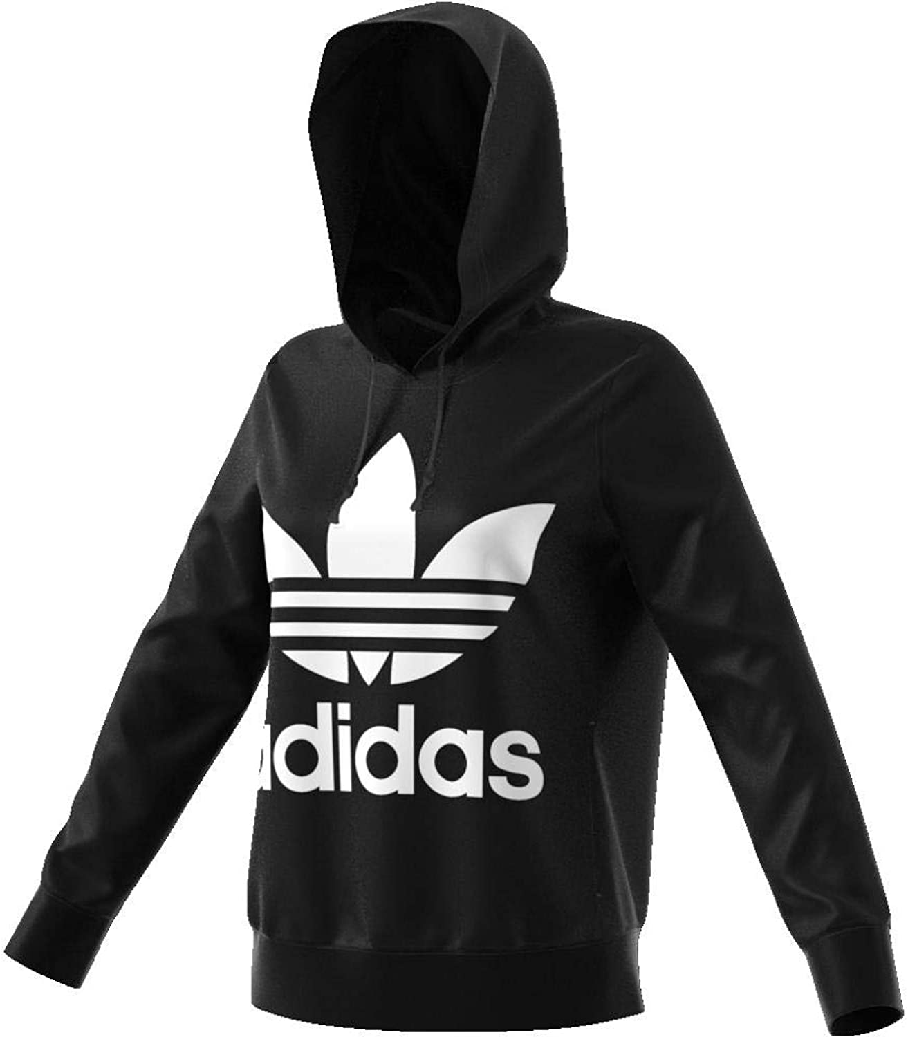 ADIDAS unisex clothing hooded sweatshirt CE2408 TREFOIL HOODIE 44 black
