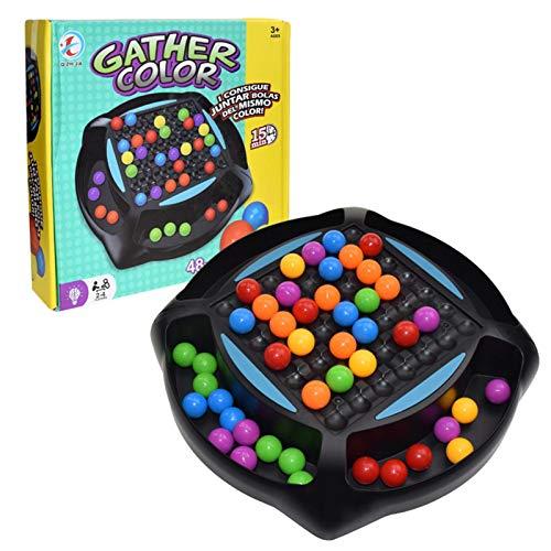 Xinjiashou Rainbow Ball Matching Game 48 Cuentas De Color Chess Matching Toy   Juego De Mesa De Ajedrez con Eliminación De Rompecabezas, Juego Mágico para Niños Adultos