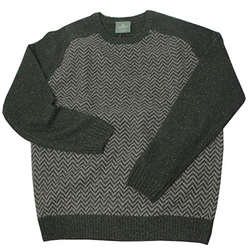 McLaughlin's Irish Shop Ierse Tweed trui met visgraat-breipatroon voor heren (XL)