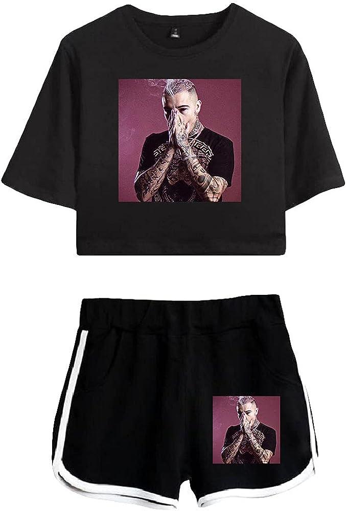 Tydres Gera MX 2 Piece Sets Casual Two Piece Suit Woman Girls Short & Tops Suit Singer Short Sleeve (BB-KB03585,XL)
