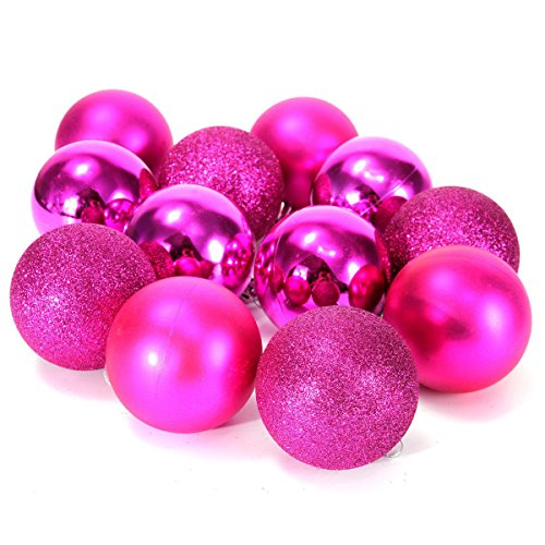 4″ Pink Shatterproof Christmas Tree Ornaments in 3 Finishes
