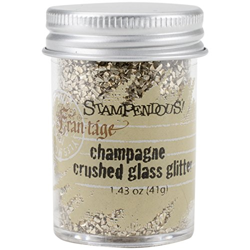 Stampendous 1-delig 1,59 oz glas Glitter Champagne