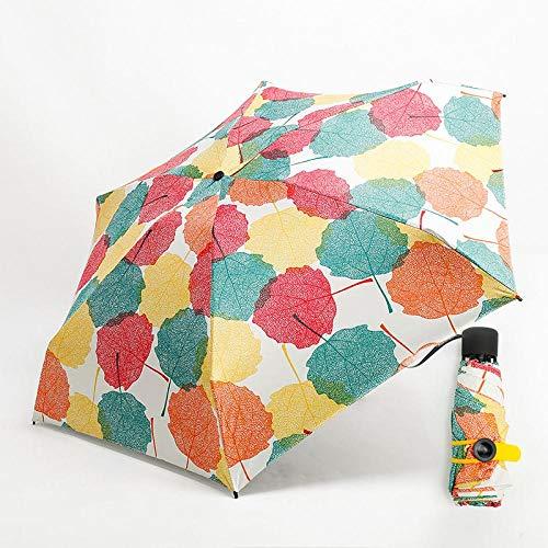 Sonnenschirm Regenschirm Kreativer Superleichter, Leicht Zu Tragender Mini-Taschenschirm Männer 5-Fach 229 G Reiseschirm Regen/Sonne Frauen Sonnenschirm Mapleleaf