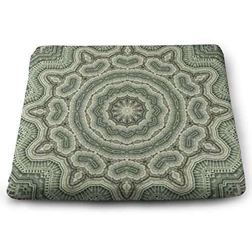 Sanghing Customized Mandala Tibetan Healing Pattern and Floral Geometric Art 1.18 X 15 X 13.7 in Cushion, Suitable for Home Office Dining Chair Cushion, Indoor and Outdoor Cushion.