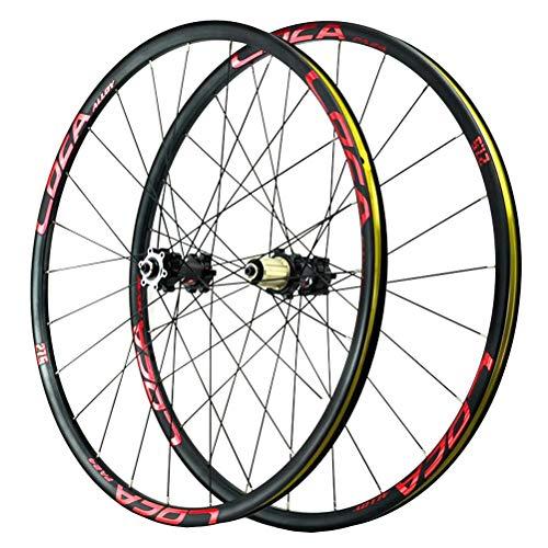 Mountainbike Laufradsatz 26 27.5 29inch Leichtmetall-Doppelwandfelge Scheibenbremse Schnelle Veröffentlichung Abgedichtete Lager Kompatibel 8-12 Geschwindigkeit 24H (Color : B, Size : 27.5in)