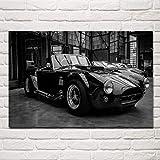 VVSUN Retro Vintage Sports Car Shelby Cobra Wall Art Posters Picture Modern Canvas Painting Sala de Estar Decoración para el hogar 60x90cm 24x36inch Sin Marco
