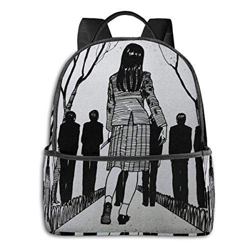 IUBBKI Mochila lateral negra Mochilas informales Tomie By Junji Ito Student School Bag School Cycling Leisure Travel Camping Outdoor Backpack