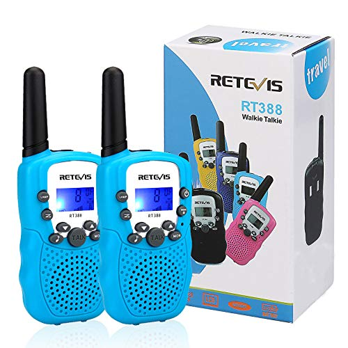 Retevis RT-388 Walkie Talkies for Kids, 22CH with Adjusting Volume Kids Walkie Talkies Toys for 4-12 Years Old Boys Girls to Outside Adventure, Camping(Blue,2 Pack)