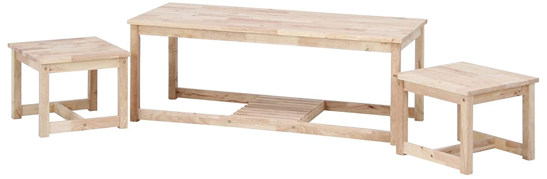 大いに警告するエネルギー不二貿易 ローテーブル 幅120cm 3個セット ナチュラル ネスト Natural Signature 37038
