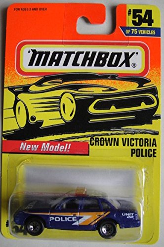 MATCHBOX NEW MODEL! CROWN VICTORIA POLICE #54 OF 75 VEHICLES UNIT 22