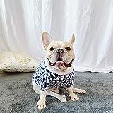 QKEMM Chaleco Disfraces Abrigo Suave y Cálido Suéter Elástico para Perros Pequeños Medianos Grandes XL Azul