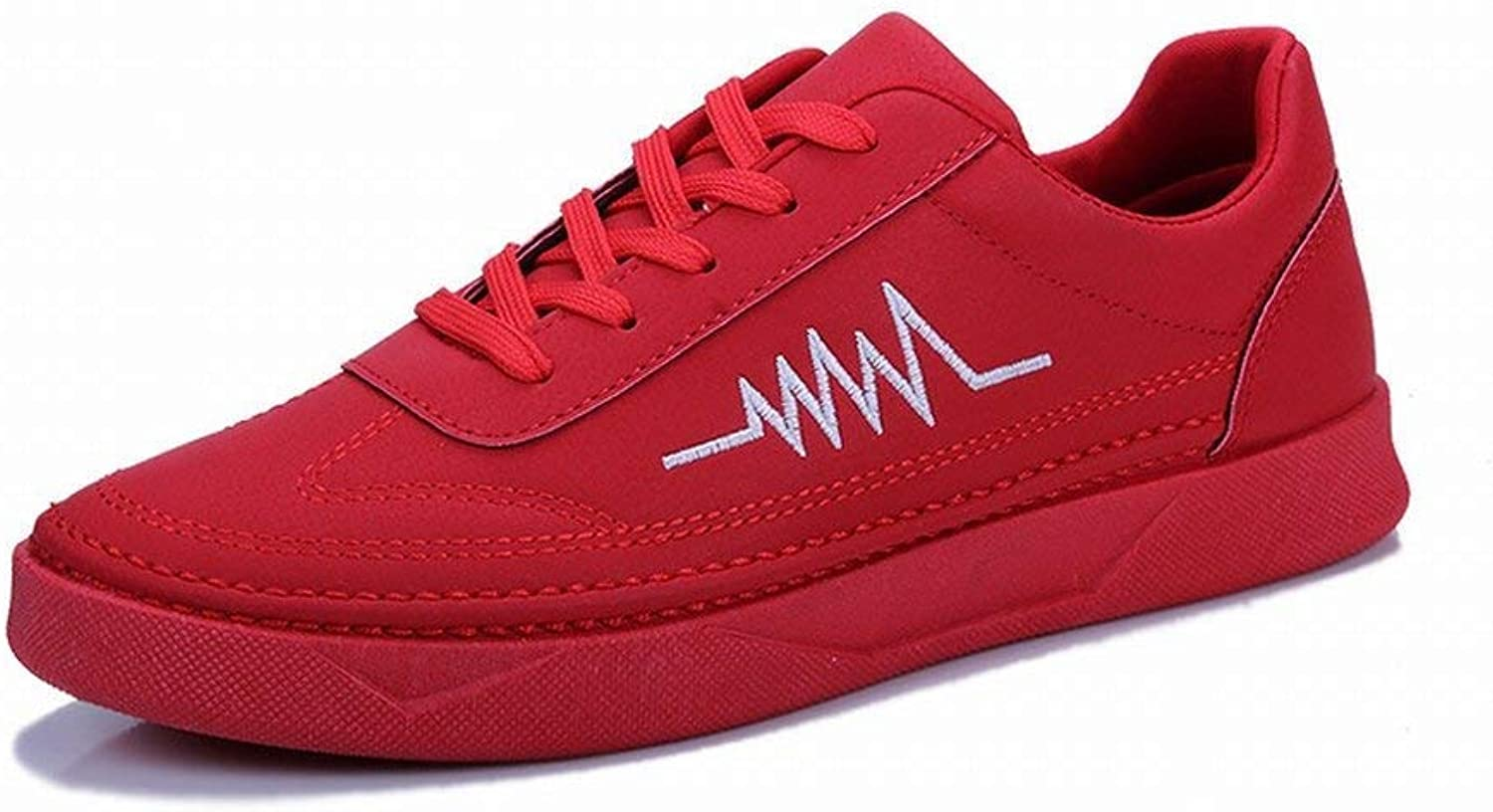 FuweiEncore Male Tide shoes Youth Lightning Pattern Black Casual shoes shoes (color   Red, Size   41)