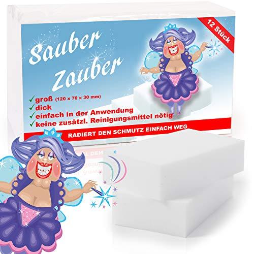 BenniCamp® Schmutzradierer [12 Stück] | CLASSIC Fleckenradierer | 120x70x30 mm | Fleckentferner in XXL | Wunderschwamm