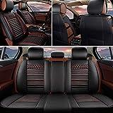シートカバー に適しています Lexus ES330 5席 専用 前席シート+後席用 フルセット カー シートカバー 保護カバー 防水 防汚 PU レザー オールシーズン 軽普通車用 エプロンタイプ 黒と赤