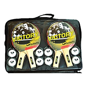 Butterfly Table Tennis Racket and Ball Sets - Includes ITTF Approved Ping Pong Paddles With Rubber and Sponge - Includes Ping Pong Balls