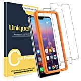 UniqueMe [2 Piezas] Protector de Pantalla para Huawei P20 Pro, Vidrio Templado [9H Dureza] HD Film Cristal Templado