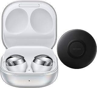 Samsung Galaxy Buds Pro 2021 (ANC), cancelación de ruido activa, auriculares inalámbricos Bluetooth para iOS y Android, modelo internacional SM-R190 (paquete de almohadilla de carga inalámbrica rápida) (Phantom Silver)