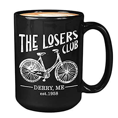 Horror Movie Coffee Mug 15 Oz - The Losers Club - Inspired Quotes Film Cinema Film Book Mystical Pennywise The Dancing Clown Derry Actor Actress Fan White Mug