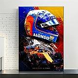 Zachking Moderne Wohnkultur Fernando Alonso F1 Abstrakte