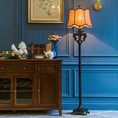 Lampadaires- Exquis Bouchon De La Lampe Intelligent Télécommande Plancher Salon Chambre Chambre Chevet Simple Vertical Lampe De Table Vert Européenne Haute Transparent Résine Lampe De Lecture Taille 1