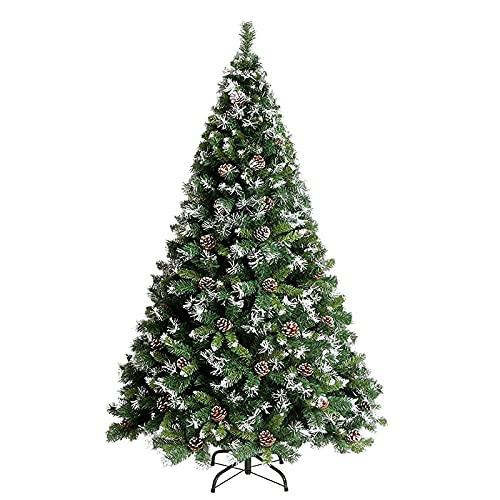 ZYDSN Árbol de Navidad artificial con patas de metal sólido con bisagra de abeto, respetuoso con el medio ambiente, sin luz, decoración de Navidad (tamaño: 120 cm)