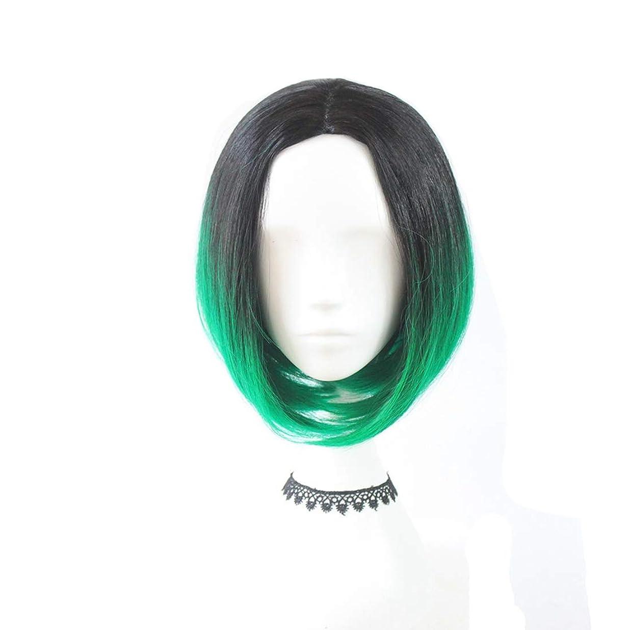 性交血統閲覧するJIANFU グラデーションカラーウィッグCOSファッションアニメウィッグBOBショートストレートヘア (Color : オレンジ)