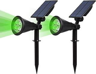 Camino Luz de Jard/ín para Entrada 2 Modos de Iluminaci/ón Opcionales Luces Solares Exterior Impermeable /ángulo de 180/° Ajustable 2 Unidades Entrada