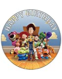 7.5 Inch Edible Cake Toppers – Toy Story Themed Birthday Party Collection of Edible Cake Decorations