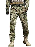 AKARMY Pantaloni Tattici Militari da Uomo Pantaloni Cargo Multi-Tasca BDU Casual mimetici CP Camo 54