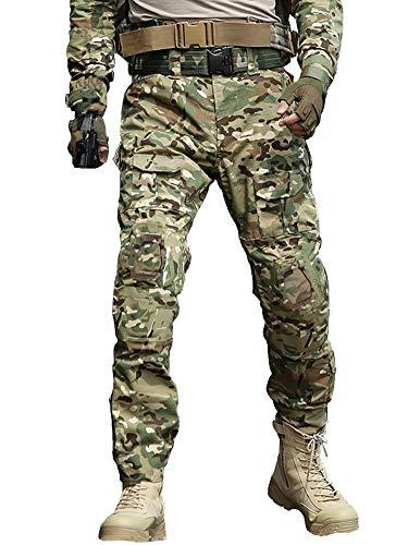 AKARMY Pantaloni Tattici Militari da Uomo Pantaloni Cargo Multi-Tasca BDU Casual mimetici CP Camo 46