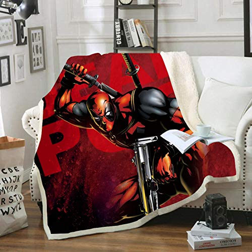 BATTE Marvel Avengers Fleecedecke Hulk, Spiderman, Capitan America, Thor, Iron Man, für Picknicks oder Camping, 150 x 200 cm