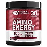 Optimum Nutrition Amino Energy, Pre workout en Poudre, Energy Drink avec Bêta-Alanine, Vitamine C, Caféine et Acides Aminés, Saveur Fruit Fusion, 30 Portions, 270g, l'Emballage Peut Varier