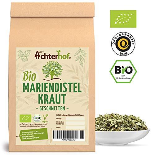 BIO Mariendistelkraut getrocknet geschnitten (500g) Mariendisteltee - milk thistle organic vom-Achterhof