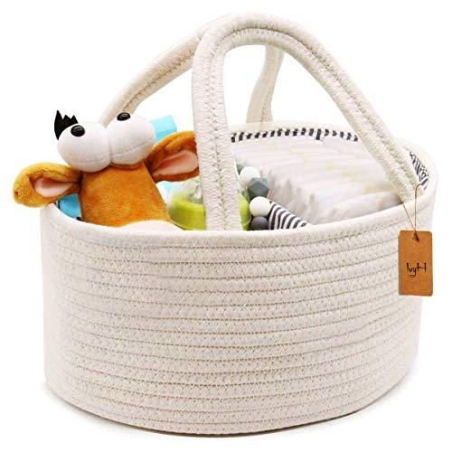organizador de almacenamiento de pa/ñales compartimentos intercambiables Organizador de pa/ñales para beb/é juguetes para ni/ñ caja de viaje para la madre reci/én nacida cesta de fieltro port/átil multifunci/ón