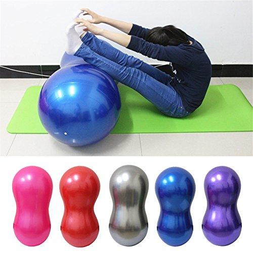 Yoga-Ball von TwinkBling, erdnussförmiger Balance-Gymnastikball für Fitness-Training, verbessertes Gleichgewicht, Stärkung der Rumpfmuskulatur, Haltungskorrektur, blau