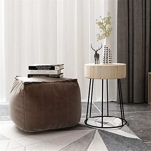GUOPIN Coffee Tables Coffee Table Rustic Farmhouse Round Wood Side End Accent Table Living Room for Office Furniture (Color : White, Size : 31×45cm)