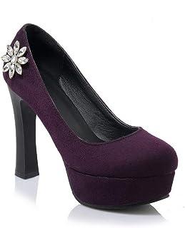 BalaMasa Womens APL11546 Pu Stiletto Heels