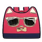 キャットキャリアバックパック 漫画の形状ペットバッグの猫と犬トラベルメッセンジャーショルダーバッグペットバックパックペット用品 犬バックパックキャリア (Color : Red, Size : 40x30x20cm)