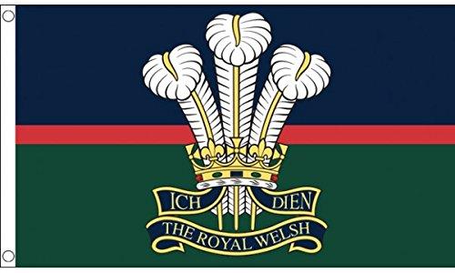 AZ FLAG Flagge ROYAL Welsh Regiment VON Wales 150x90cm - WALISISCHE Army Fahne 90 x 150 cm - flaggen Top Qualität